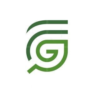 Letter Gf Or Fg Leaf Logo