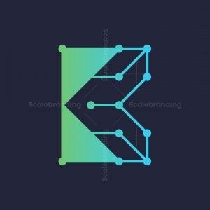 Letter K Tech Logo