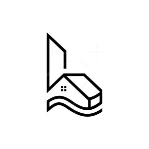 Letter L House Logo