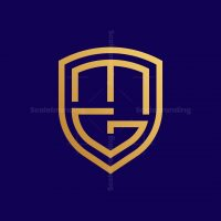 Letter Mg Shield Logo