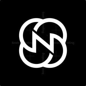 Letter N Minimalist Rose Logo