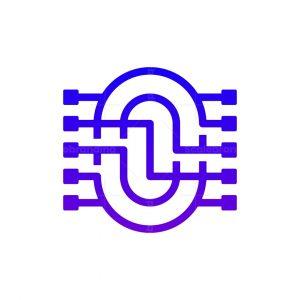 Letter O Microchip Logo