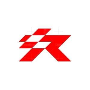 Letter R Race Logo