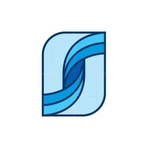 Letter S Wave Logo