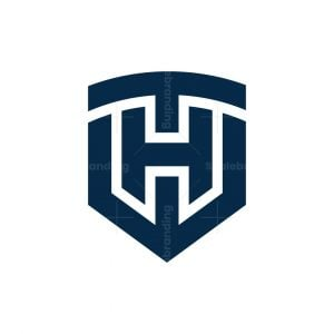 Letter Th Ht Crest Logo