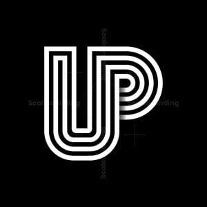 Letter Up Monogram Logo