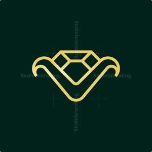 Letter V Diamond Logo