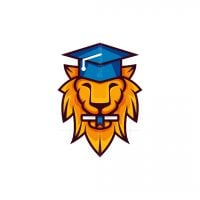 Graduation Lion Logo