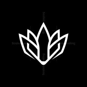 Lotus Wolf Head Logo