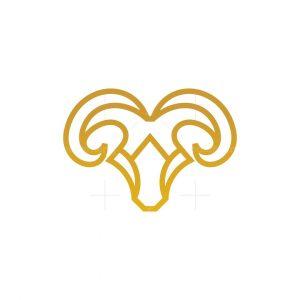 Luxury Ram Head Logo