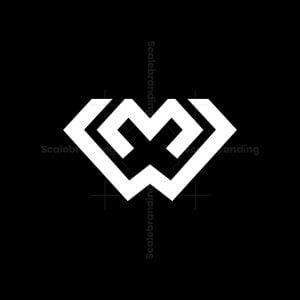Mw Or Wm Letter Logo
