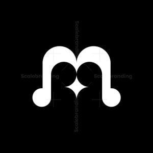 M Letter Star Logo