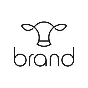 Minimal Cattle Cow Logo