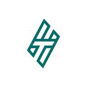 Minimal Letter Ht Logo