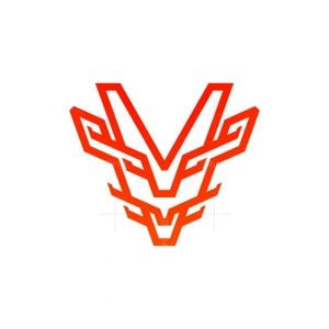 Minimalist Dragon Head Logo