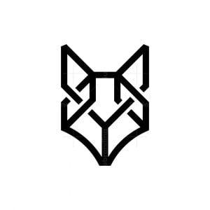 Minimalist Knot Fox Logo