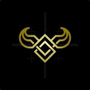 Minimalist Luxury Bull Head Logo