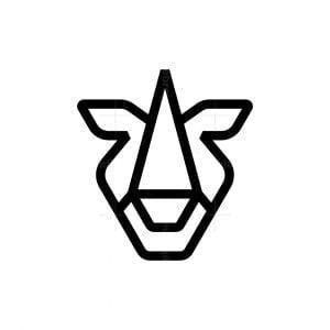 Minimalist Rhino Head Logo
