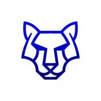 Minimalist Tiger Head Logo