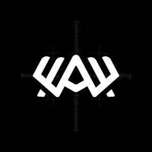 Modern Aw Monogram Logo