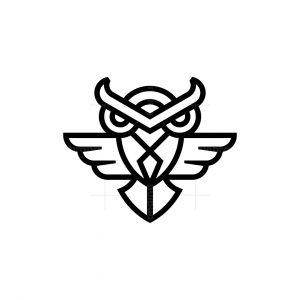 Modern Flying Owl Logo