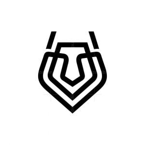 Modern Wolf Head Logo