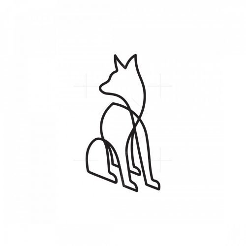 Monoline Dog Logo