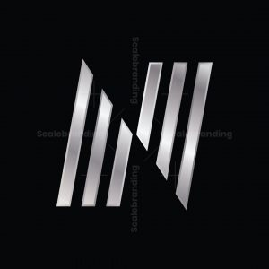 Letter N Made From Pointed Bars Logo