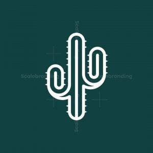Natural Green Cactus Logo