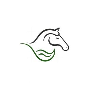 Natural Leaf Horse Logo