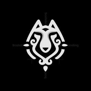 Ornament Wolf Head Logo