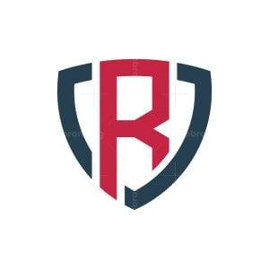 R Letter Shield Logo