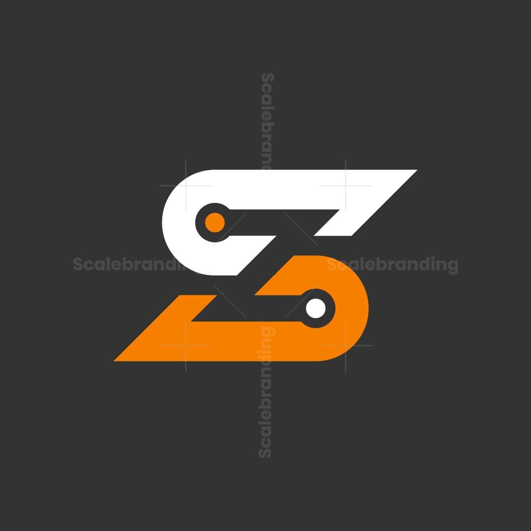 Letter S Z Tech Logo