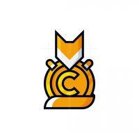 Geometric Fox Coin Logo