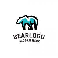 Simple Bear Polar Logo