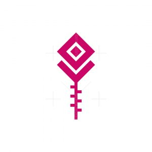 Simple Geometric Rose Logo