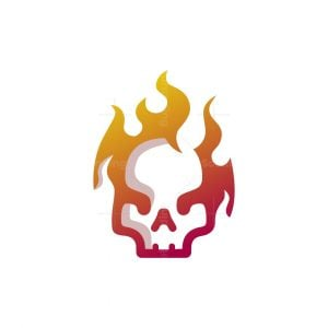 Skull Fire Logo
