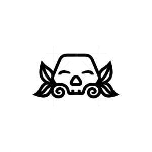 Skull Leaf Logo
