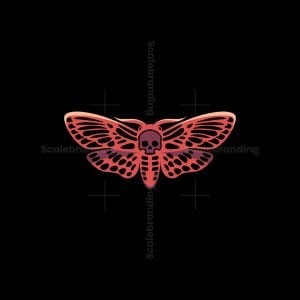 Skull Moth Logo