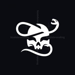 Skull And Snake Logo