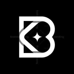 Star Bk Or Kb Letter Logo