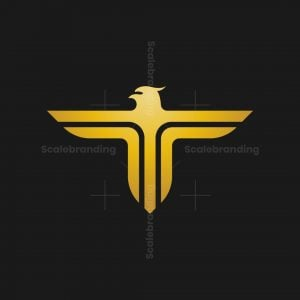 Letter T Eagle Logo
