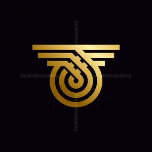 T Letter Wings Logo