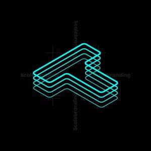 Layered T Shapes Logo