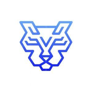 Techno Tiger Head Logo
