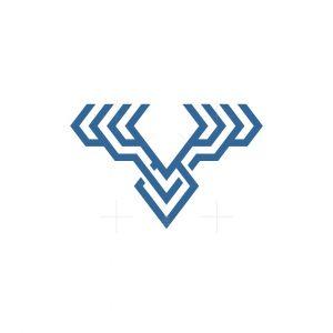Technology Deer Head Logo