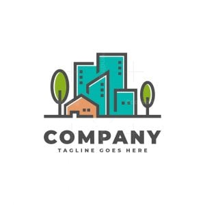 Town And House Real Estate Logo