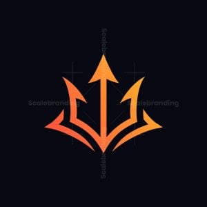 Trident Fox Head Logo