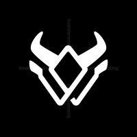 W Letter Bull Head Logo
