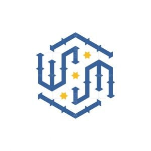The Initials W And M Logo